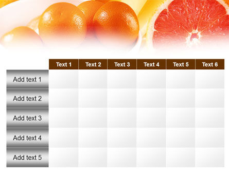 Grapefruit PowerPoint Template Slide 15