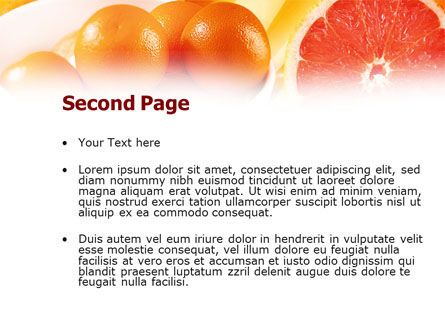 Grapefruit PowerPoint Template, Slide 2, 01266, Food & Beverage — PoweredTemplate.com