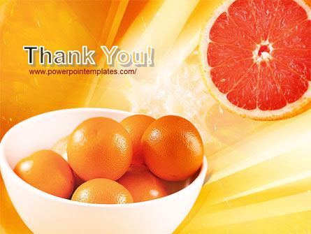 Grapefruit PowerPoint Template Slide 20