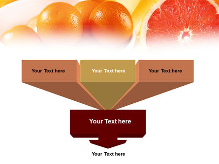 Grapefruit PowerPoint Template, Slide 3, 01266, Food & Beverage — PoweredTemplate.com