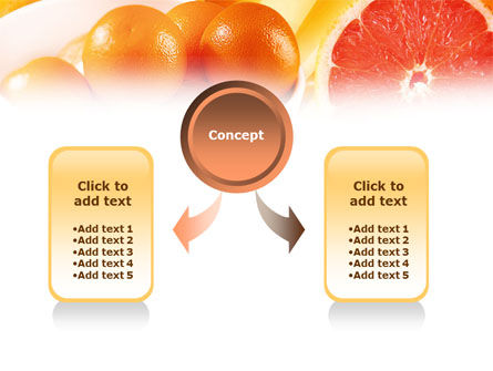 Grapefruit PowerPoint Template, Slide 4, 01266, Food & Beverage — PoweredTemplate.com