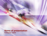 Abstract/Textures: Abstract Race PowerPoint Template #01267