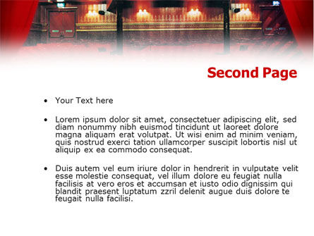 Theater PowerPoint Template Slide 2