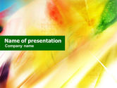 Abstract/Textures: Yellow Expression PowerPoint Template #01270