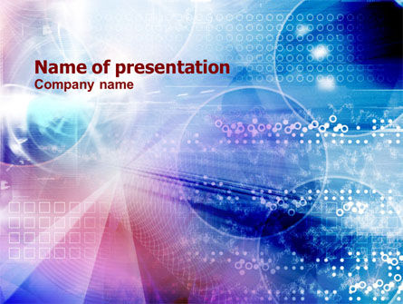 Abstract/Textures: Informatie Ruimte PowerPoint Template #01272