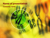 Technology and Science: Chromosomes PowerPoint Template #01273