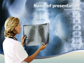 Medical: Roentgenoscopy PowerPoint Template #01276