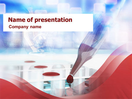 Medical: Blood Test PowerPoint Template #01277