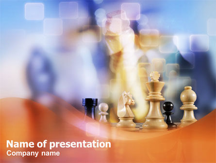 Chess PowerPoint Template, 01278, Business Concepts — PoweredTemplate.com