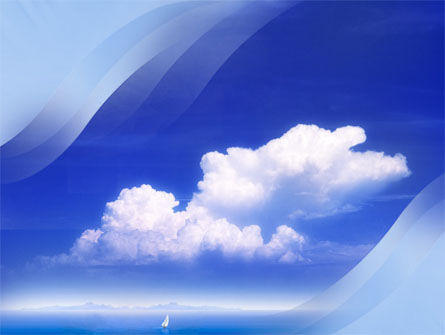 Sea & Cloud PowerPoint Template