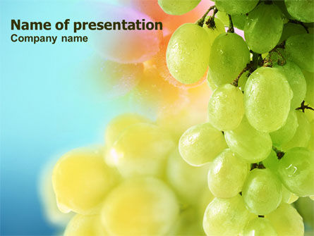 White Grape PowerPoint Template, 01281, Food & Beverage — PoweredTemplate.com