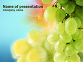 Food & Beverage: White Grape PowerPoint Template #01281