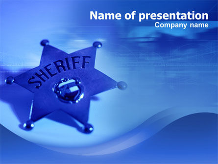 Sheriff PowerPoint Template, 01285, Legal — PoweredTemplate.com