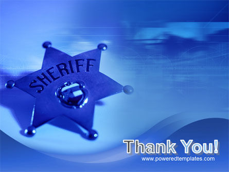 Sheriff PowerPoint Template Slide 20
