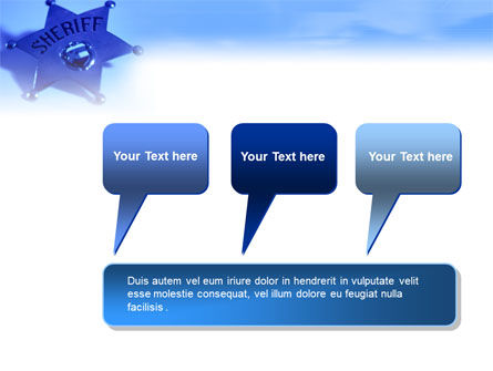 Sheriff PowerPoint Template Slide 9