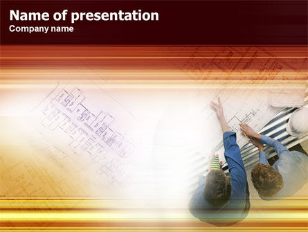 Construction: Scheming PowerPoint Template #01286