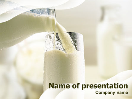 Food & Beverage: Pouring Milk PowerPoint Template #01287
