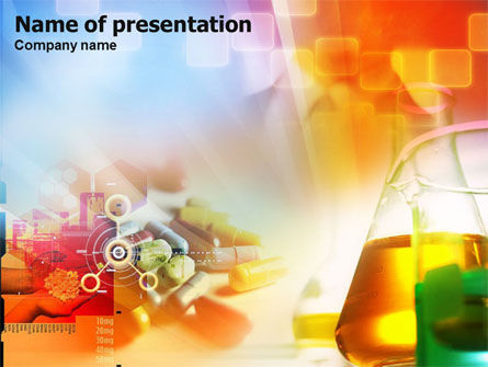 Technology and Science: Pharmacy Tests PowerPoint Template #01290