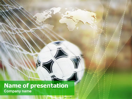 soccer powerpoint template, backgrounds | 01291 | poweredtemplate, Powerpoint templates