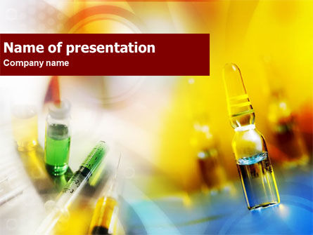 Medical: Ampoule & Drug PowerPoint Template #01293