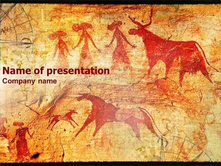 Art & Entertainment: Rock Paintings PowerPoint Template #01294