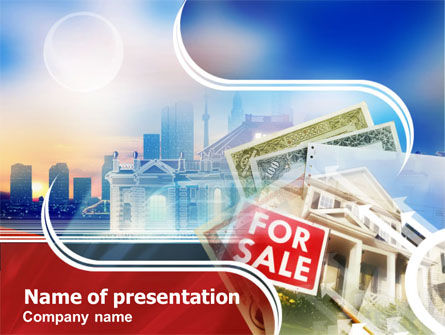 Real Estate: Templat PowerPoint Dijual #01296