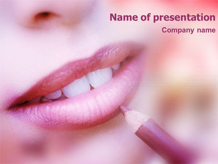 Beautiful Lips PowerPoint Template