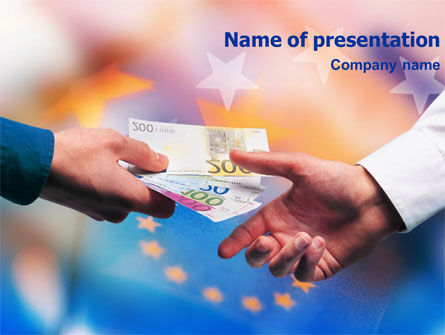 Financial/Accounting: Eurocurrency PowerPoint Template #01300
