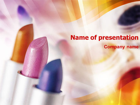 Lipstick PowerPoint Template, 01301, Careers/Industry — PoweredTemplate.com