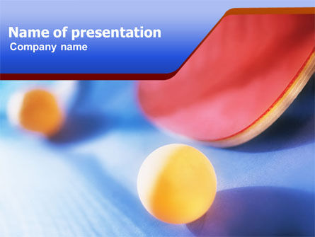 Sports: Ping-pong PowerPoint Template #01310
