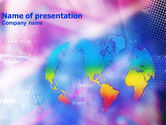 Technology and Science: Global Net PowerPoint Template #01311