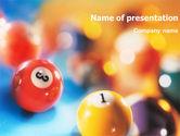 Art & Entertainment: Billiard PowerPoint Template #01312
