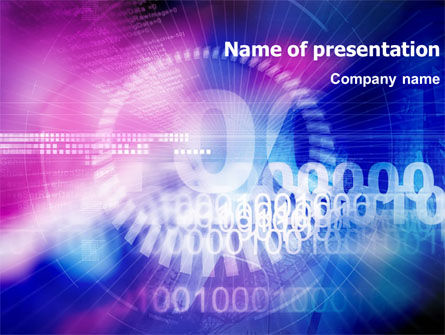 Abstract/Textures: Binary Code PowerPoint Template #01313