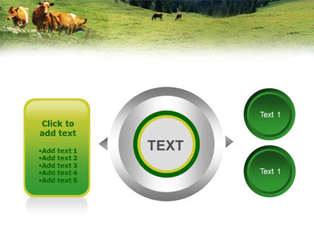 Cows on the Meadow PowerPoint Template Slide 12