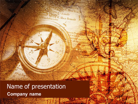 Compass & Map PowerPoint Template