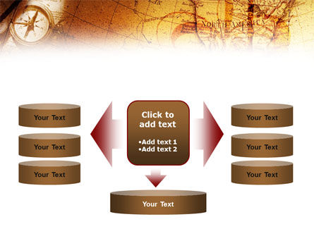 Compass & Map PowerPoint Template Slide 13