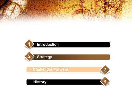 Compass & Map PowerPoint Template Slide 3