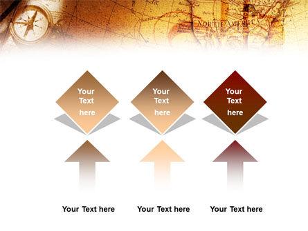 Compass & Map PowerPoint Template Slide 5
