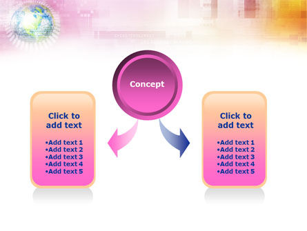 Bright Globe In Purple Color PowerPoint Template, Slide 4, 01316, Global — PoweredTemplate.com