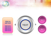 Bright Globe In Purple Color PowerPoint Template#12