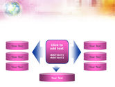 Bright Globe In Purple Color PowerPoint Template#13