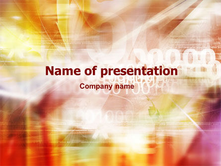 Abstract/Textures: Information Ambit PowerPoint Template #01317