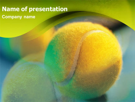 Yellow Tennis PowerPoint Template