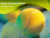 Sports: Yellow Tennis PowerPoint Template #01318