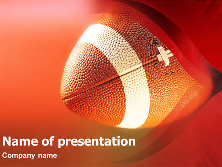 American Football American Conference PowerPoint Template, 01319, Sports — PoweredTemplate.com