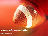 Sports: American Football American Conference PowerPoint Template #01319