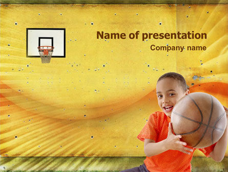 Basketball Of Youth PowerPoint Template