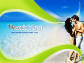 Couple At The Beach PowerPoint Template#20