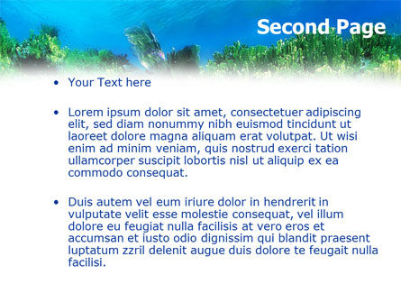 Scuba Diver PowerPoint Template, Slide 2, 01324, Sports — PoweredTemplate.com