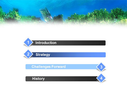 Scuba Diver PowerPoint Template, Slide 3, 01324, Sports — PoweredTemplate.com